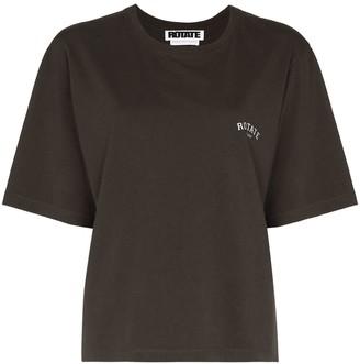 Rotate by Birger Christensen Sunday Aster logo-print T-shirt
