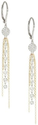 Meira T Diamond & Gold Fringe Earrings