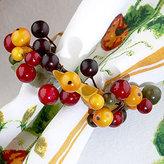 World Market Beaded Berry Napkin Ring, Set of 4