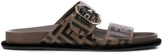 Fendi FF logo flat sandals