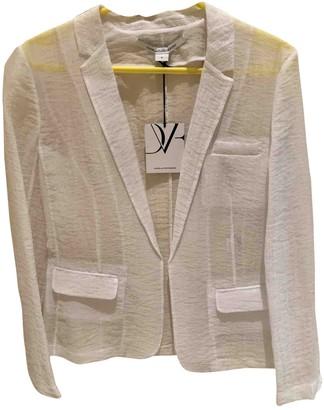 Diane von Furstenberg White Synthetic Jackets