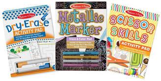 Melissa & Doug Melissa Doug Melissa Doug Creative Activity Pad 3- Pack Scissor Skills, Dry-Erase Fun, Metallic Markers