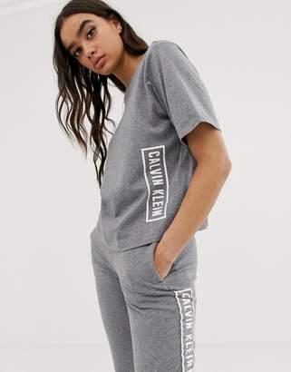 Calvin Klein logo t-shirt in heather grey