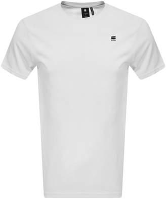 G Star Raw Lash Logo T Shirt White