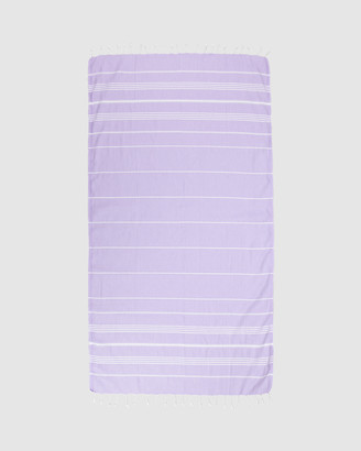 Tolu Australia - Women's White Towels - Thin Turkish Towel - Size One Size, 100cm at The Iconic