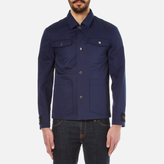 Kenzo Gabardine Patch Pocket Jacket Midnight Blue