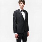 Paul Smith Men's Tailored-Fit Black Wool And Mohair-Blend Evening Suit