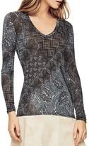 BCBGMAXAZRIA Batik Print Top