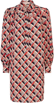 Traffic People Maisie Geometric Shirt Midi Dress In Multicoloured