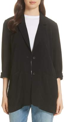 Eileen Fisher Long Notch Collar Jacket