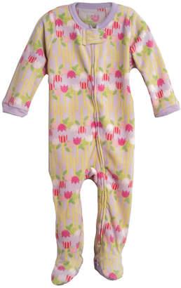 Elowel Pjs Elowel Inc. Footed Fleece Flower Pajamas