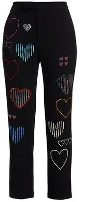 Libertine Hearts Embellished Cigarette Pants