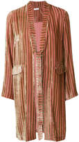 AILANTO striped belted jacket