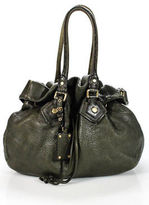 Marc by Marc Jacobs Green Leather Gold Tone Detail Drawstring Top Hobo Handbag