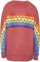Lauren Moshi Girl's Rocky Rainbow Heart Pullover