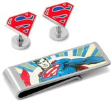 Cufflinks Inc. Cufflinks, Inc. 'Superman' Cuff Links & Money Clip Set