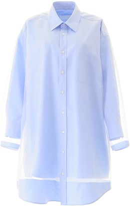 Maison Margiela SHIRT DRESS 38 Light blue Cotton