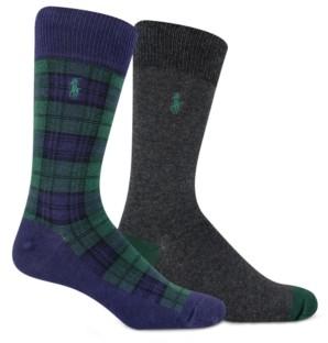 Polo Ralph Lauren Men's 2-Pack Blackwatch Tartan Socks