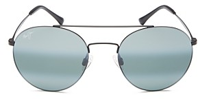 Maui Jim Women's Pele's Hair Polarized Brow Bar Aviator Sunglasses, 53mm