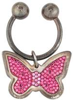 Judith Leiber Sterling Butterfly Keychain