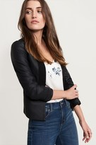 Dynamite Collarless Faux Leather Jacket