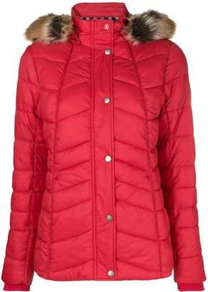 Barbour fur hood trim puffer jacket