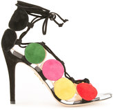 Charlotte Olympia colour block sandals - women - Calf Leather/Calf Suede - 36