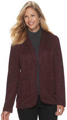 Croft & Barrow Women's Knit Blazer