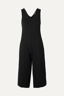 Calé cale - Gigi Cropped Ribbed Stretch-jersey Jumpsuit - Black