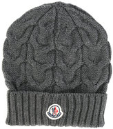 Moncler cable knit hat - kids - Virgin Wool - 48 cm