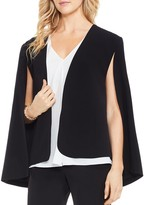 Vince Camuto Milano Twill Open Front Cape Jacket