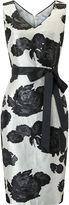 Jacques Vert Jacquard Flower Dress