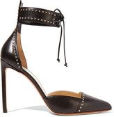 Francesco Russo Studded Leather Pumps - Black