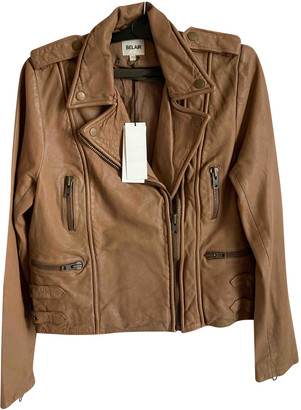 Bel Air Beige Leather Leather jackets