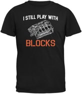 Old Glory Auto Racing I Still Play With Blocks Adult T-Shirt