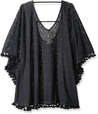 Bay Sky Women's Crochet V Neck Tunic with Fringed Hem