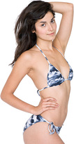 American Apparel Patterned Polyester Triangle Bikini Top