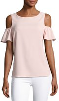 Amanda Uprichard Dryden Cold-Shoulder Capri Top, Pink
