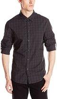 Calvin Klein Jeans Men's Deco Check Roll Up Sleeve Shirt