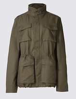 M&s Collection Pure Cotton 4 Pocket Jacket with StormwearTM