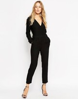 Asos Jumpsuit with V Neck and Peg Leg