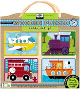 Green Baby Innovative Kids Green Starts Wooden Puzzle: Ready, Set, Go (16 pc)