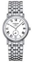 Longines Men's 345mm Steel Bracelet & Case S. Sapphire Automatic White Dial Analog Watch L48044116