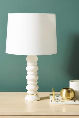 Anthropologie Silvia Marble Table Lamp Base