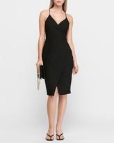 Express Textured Cami Wrap Sheath Dress