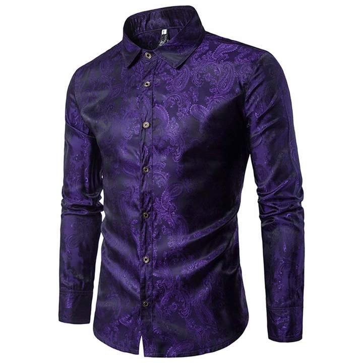 64172fe82 Mens Dark Purple Long Sleeved Shirt - ShopStyle Canada
