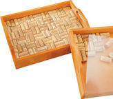 JCPenney Wine Enthusiast Wine Cork Serving Tray Kit