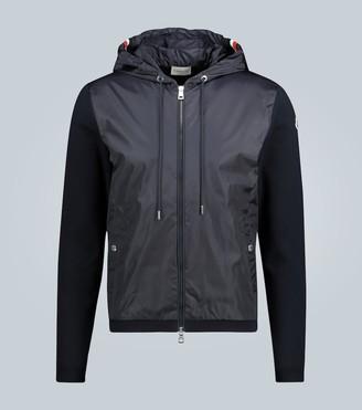 Moncler Paneled zip-up cardigan