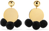 Elizabeth and James Stevie Pompom-embellished Gold-plated Earrings - one size