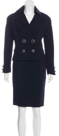 Gianni Versace Vintage Wool Skirt Suit